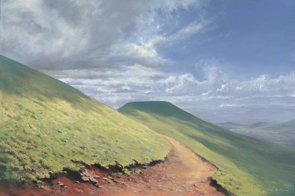 Pen Y Fan Art Print featuring the painting Pen Y Fan by Richard Picton
