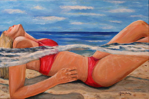Beach Art Print featuring the painting Perfect Spa by Dyanne Parker