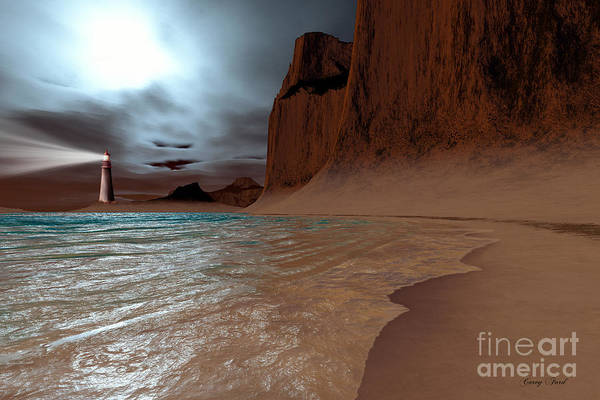 Lighthouse Art Print featuring the painting Pharos by Corey Ford