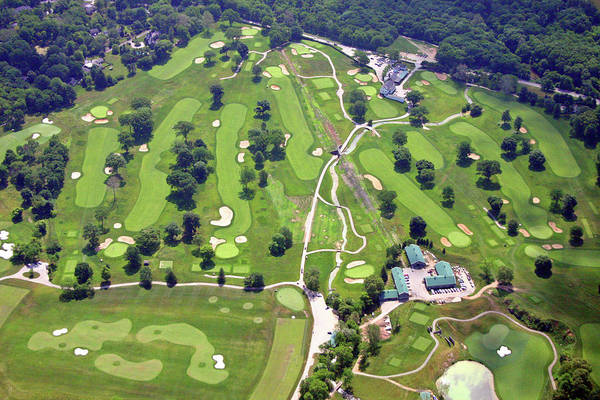 Philadelphia Cricket Club Wissahickon Golf Course Front Nine Holes Art Print