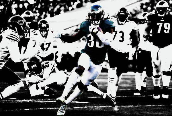 Jay Ajayi Art Print featuring the mixed media Philadelphia Eagles 5b by Brian Reaves