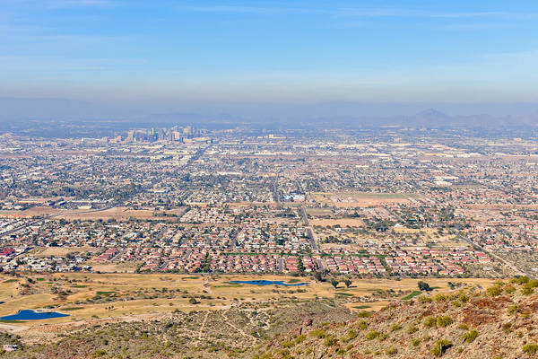 Arizona Art Print featuring the photograph Phoenix From South Mountain by Tom Dowd