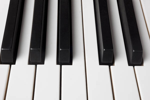 Piano Art Print featuring the photograph Piano Keys Close Up by Garry Gay