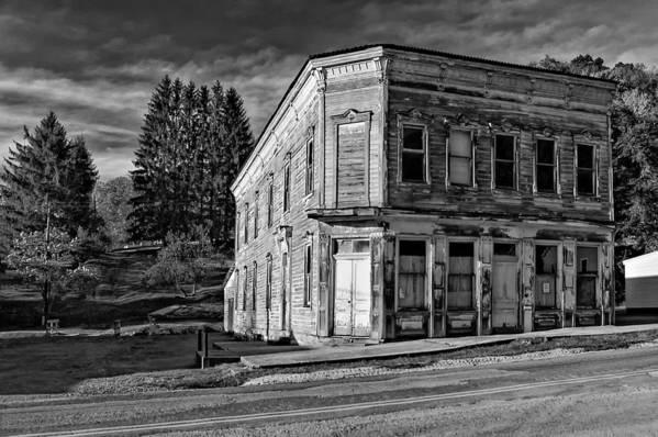 Pickens Art Print featuring the photograph Pickens Wv Monochrome by Steve Harrington