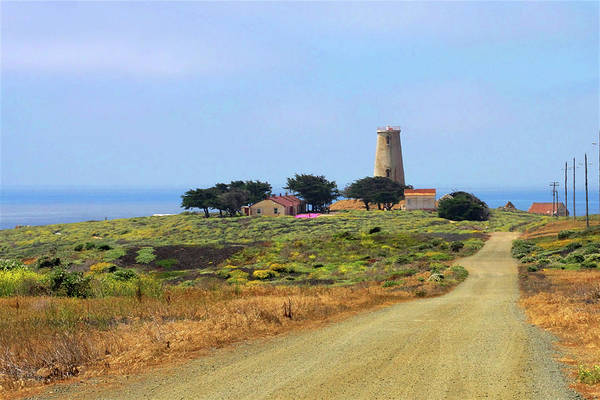 Piedras Blancas Light Station Art Print featuring the photograph Piedras Blancas Historic Light Station - Outstanding Natural Area Central California by Christine Till