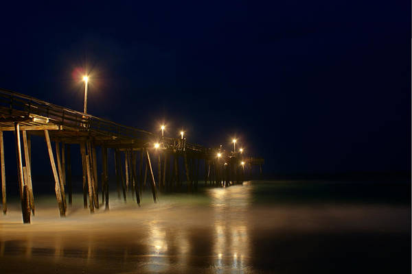 North Carolina Art Print featuring the photograph Pier by Andreas Freund