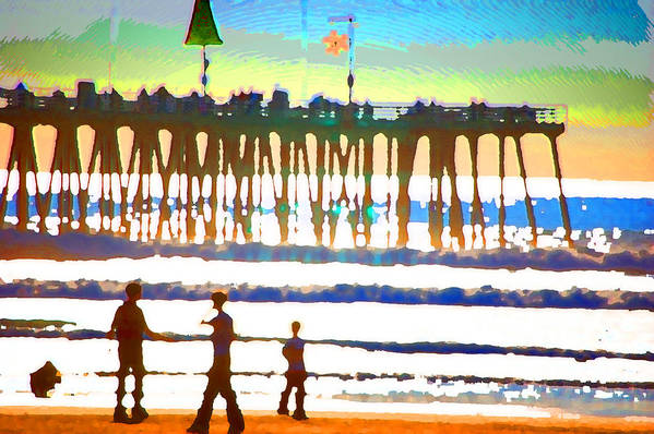 Art Print featuring the digital art Pier by Danielle Stephenson