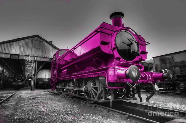 Steam Art Print featuring the photograph Pink Pannier by Rob Hawkins