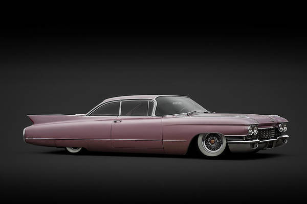 Cadillac Art Print featuring the digital art Pinky by Douglas Pittman