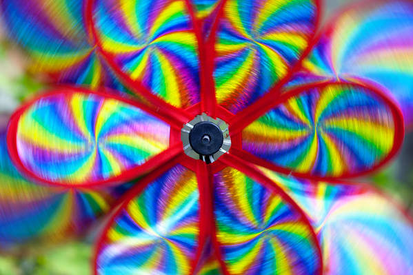 Toy Windmill Print featuring the photograph Pinwheel by Michal Boubin