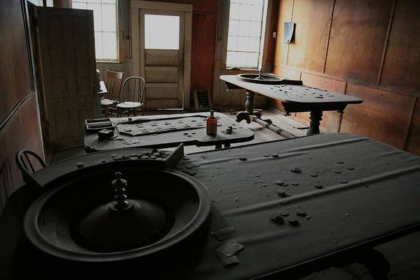 Bodie Art Print featuring the photograph Place Your Bets by Carl Hinkle