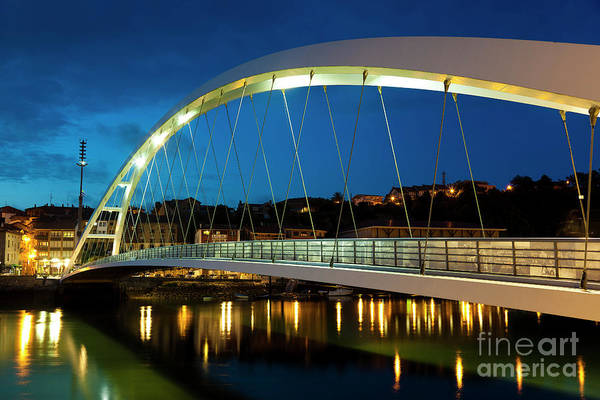 Engineering Art Print featuring the photograph Plentzia Bridge, Bizkaia by Francisco Javier Gil Oreja