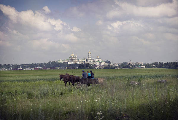 Ukraine Art Print featuring the photograph Pochaiv Monastery Ukraine by Yuri Lev
