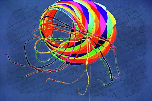 Alicegipsonphotographs Art Print featuring the photograph Poetry Of Kite Swirls by Alice Gipson