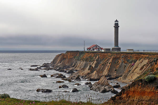 Point Arena Lighthouse Art Print featuring the photograph Point Arena Lighthouse Ca by Christine Till