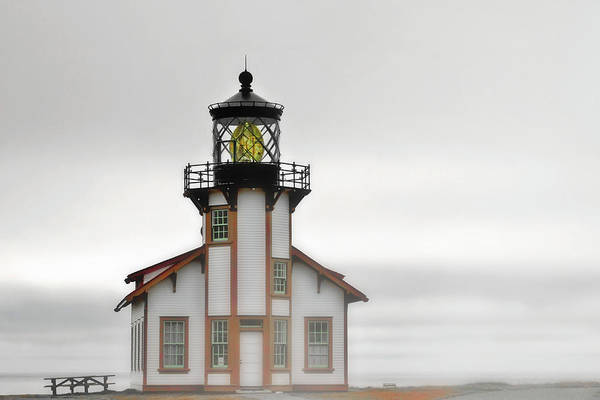 Point Cabrillo Lighthouse Art Print featuring the photograph Point Cabrillo Light Station - Mendocino Ca by Christine Till