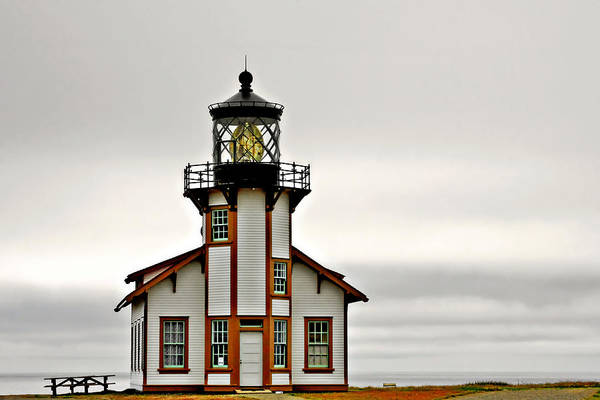 Point Cabrillo Lighthouse Art Print featuring the photograph Point Cabrillo Lighthouse California by Christine Till