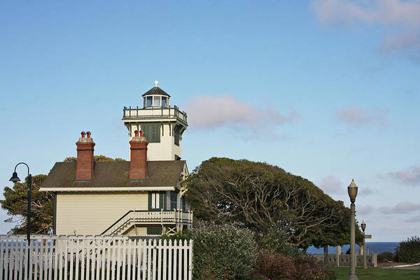 Point Fermin Lighthouse Art Print featuring the photograph Point Fermin Light - An Elegant Victorian Style Lighthouse In Ca by Christine Till