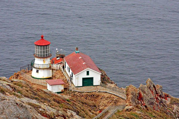 Point Reyes Lighthouse Art Print featuring the photograph Point Reyes Lighthouse Ca by Christine Till