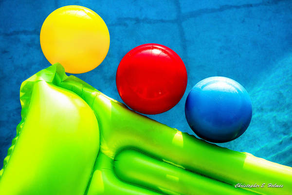 Pool Art Print featuring the photograph Pool Toys by Christopher Holmes