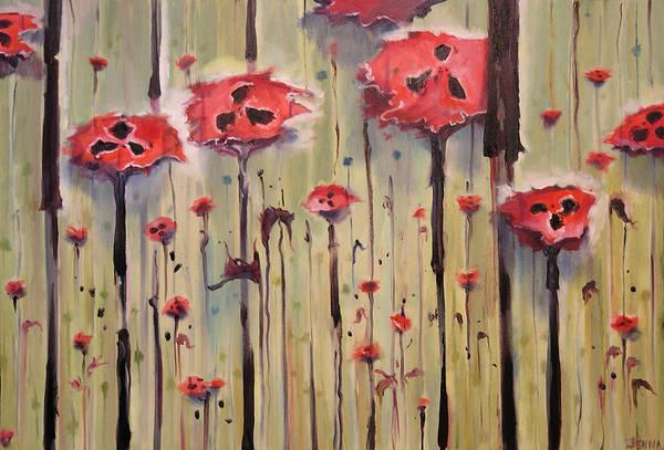 Poppy Field Art Print featuring the painting Poppy Field by Jenna Fournier