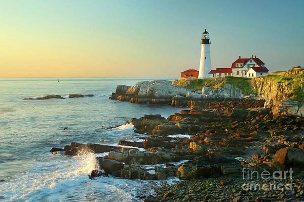 Coastline Art Print featuring the photograph Portland Head Light No. 2 by Jon Holiday