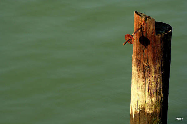 Post Art Print featuring the photograph Post With Rust by Kerry Reed