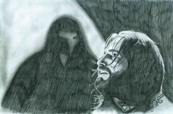 Portrait Art Print featuring the drawing Prayer by Jason McRoberts
