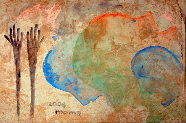 Painting Art Print featuring the painting Prayer by Rooma Mehra
