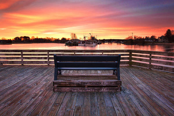 Prescott Pier Print featuring the photograph Prescott Pier by Eric Gendron