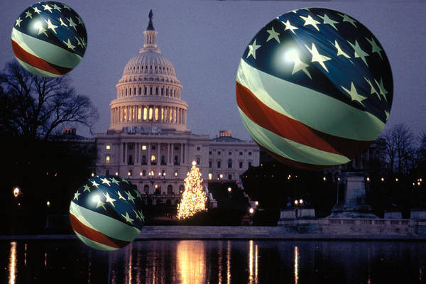 American Art Print featuring the photograph Presidential Balls by Carl Purcell