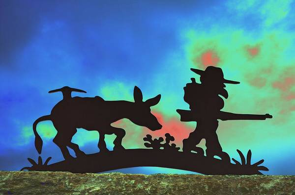 Silhouette Art Print featuring the photograph Prospector's Silhouette by Richard Henne