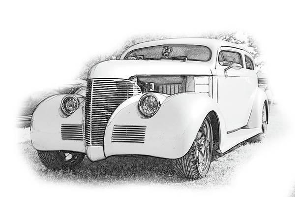 Cars Art Print featuring the digital art Ps Pencil 014 by Shellie Midgette