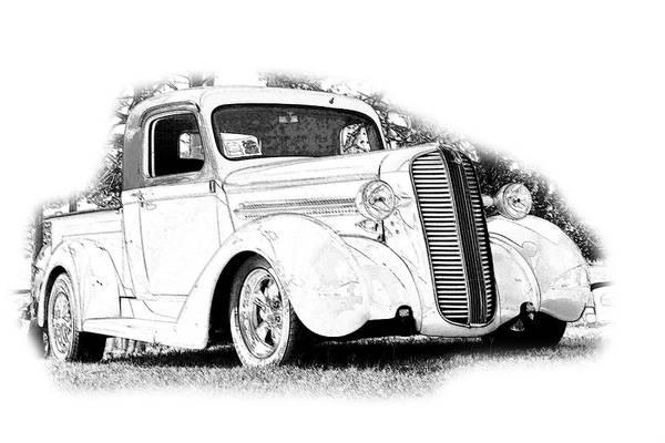 Cars Art Print featuring the digital art Ps Pencil 030 by Shellie Midgette