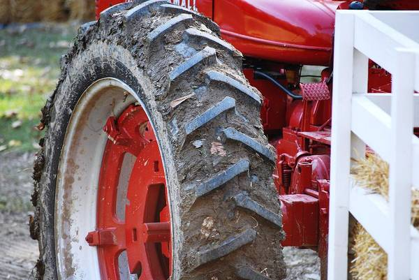Tractor Art Print featuring the photograph Pulling For The Farm by Peter McIntosh