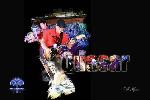 Quasar Art Print featuring the photograph Quasar by PJQandFriends Photography