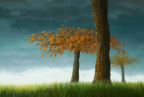 Tree Art Print featuring the painting Quercus Corymbion by Patricia Van Lubeck