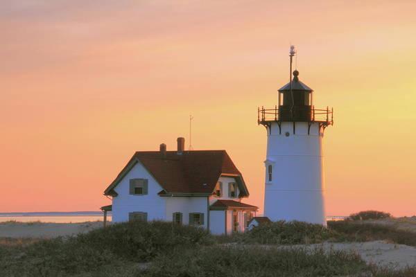 Lighthouse. Light Art Print featuring the photograph Race Point Light by Roupen Baker