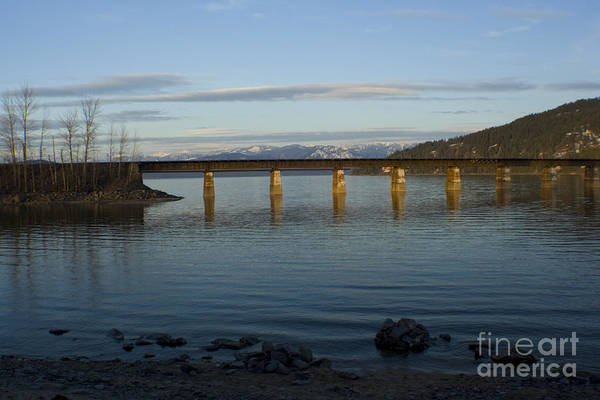 Bridge Art Print featuring the photograph Railroad Bridge Over The Pend Oreille by Idaho Scenic Images Linda Lantzy