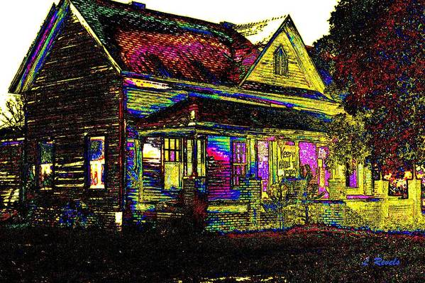 House Art Print featuring the photograph Rainbow House by Leslie Revels
