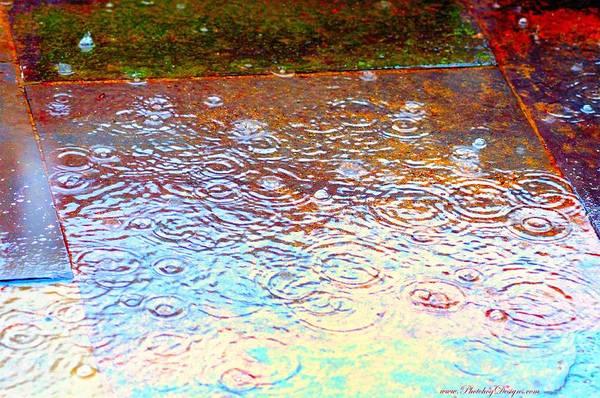 Rain Art Print featuring the photograph Raindrops 6877 by PhotohogDesigns