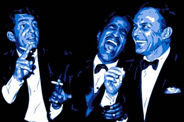 Frank Sinatra Art Print featuring the digital art Rat Pack At Carnegie Hall by DB Artist