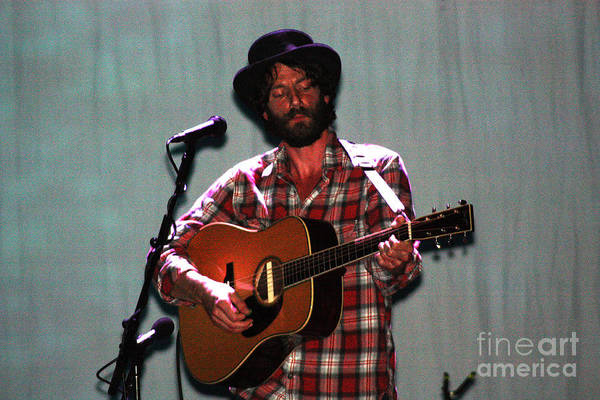 Ray Lamontagne Art Print featuring the photograph Ray Lamontagne-9040 by Gary Gingrich Galleries