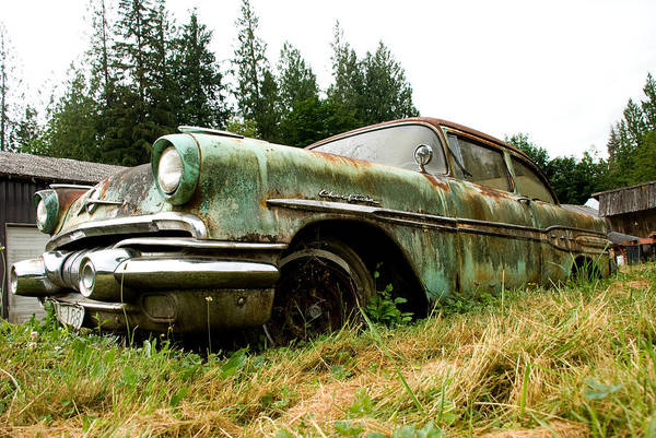 Pontiac Art Print featuring the photograph Re-tired by Jennifer Owen