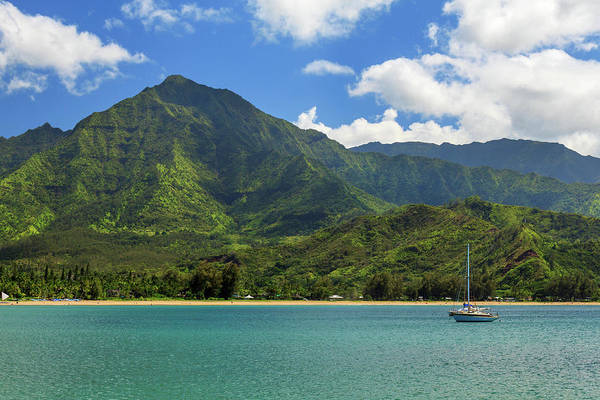 Sailboat Art Print featuring the photograph Ready To Sail In Hanalei Bay by James Eddy