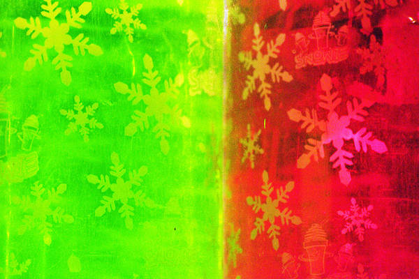 Red Art Print featuring the photograph Red And Green With A Snowflake Pattern by Richard Henne