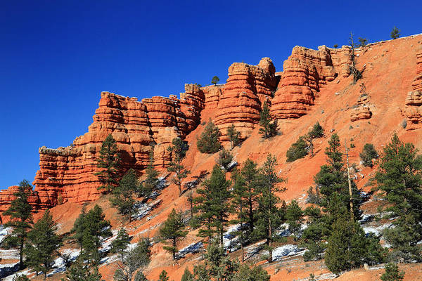Red Art Print featuring the photograph Red Canyon Hoodoos by Pierre Leclerc Photography