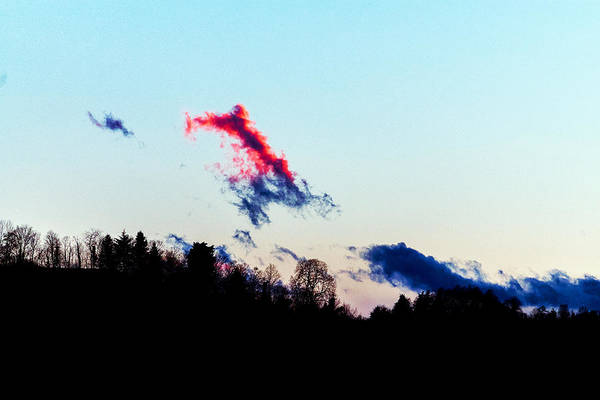 Landscape Art Print featuring the photograph Red Cloud by -danny Ruggiero