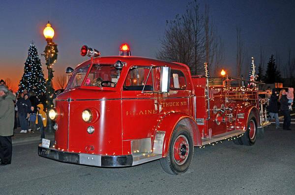 Digital Photograph Art Print featuring the photograph Red Firetruck by Matthew Adair
