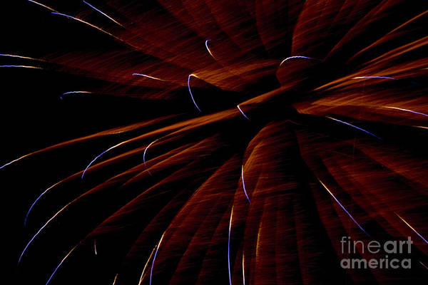 Fireworks Art Print featuring the photograph Red Flare by Jeannie Burleson